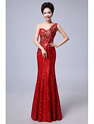 Formal Evening Dress - Ruby Petite Trumpet/Mermaid One Shoulder Floor-length Chiffon