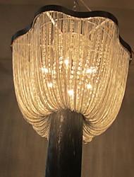 hanglampen 6 licht mode schilderij metalen aluminium