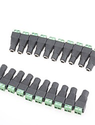 20 PCS Female Mark Polarity DC Power Jack Connector Adapter For 5050 3528 Single Color LED Strip Light AC15