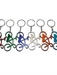 Fahrrad-Stil Schlüsselbund&Flaschenöffner, Aluminiumlegierung 10 x 4 x 0,2 cm (4,0 x 1,6 x 0,1 Zoll) zufällige Farbe