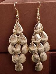 Tropfen-Ohrringe Aleación Tropfen Gold Silber Schmuck 2 Stück