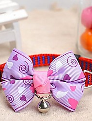 Dog Collar Adjustable/Retractable / With Bell Purple Nylon