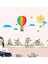 Wall Stickers Wall Decals, Style Monkey Balloon PVC Wall Stickers