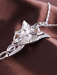 Fashion Flower Pendant Silver Alloy Movie Pendant Necklace(1 Pc)