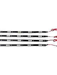 [10pcs / lot] 5W 30 centímetros 15xsmd5050 led azul tira diy luz conduziu a lâmpada auto para o uso do carro (DC12V)