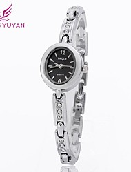 yaqin® mujeres de la marca de lujo de relojes de moda rhinestone cuarzo de la venda de relojes (colores surtidos)