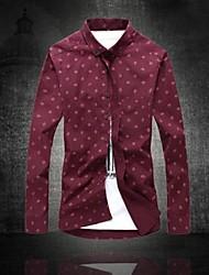 grafite tipo bola de lazer camisas de mangas compridas dos homens