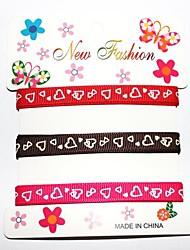 3/8 Inch Xinxin Company Pattern Rib Ribbon Printing Ribbon- 1 Yards Per Roll (Three Color One Card)