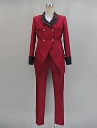 Inspired by Cosplay Cosplay Anime Cosplay Costumes Cosplay Suits Solid Red Long Sleeve Coat / Shirt / Pants