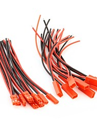 apuramento neewer® linha 100 milímetros jst&JST Conector para bateria lipo rc bec 10 pares