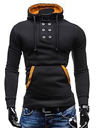 Pull à Capuche & Sweat-shirt ( Coton/Polyester ) Tous les jours/Sport Manches longues pour Pour des hommes