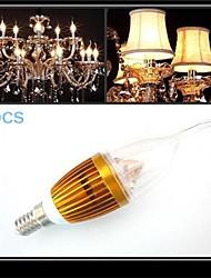 5 Stück MORSEN LED Kerzen-Glühbirnen CA35 E14 250-300 LM 3000-3500 K 3 SMD Warmes Weiß AC 220-240 V