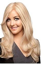 18 inch 100% echt Indisch haar blonde los krullend full lace pruik