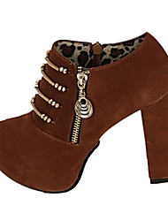 Women's Shoes Shimandi Round Toe Chunky Heel Suede Ankle Boots More Colors available