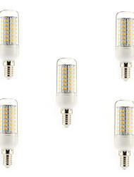 5W E14 G9 E26/E27 LED a pannocchia T 56 SMD 5730 450 lm Bianco caldo Luce fredda AC 220-240 V 5 pezzi