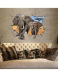 3d наклейки наклейки на стены, стиль слон стирать пвх наклейки