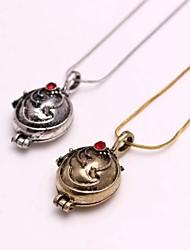 Ожерелье Медальоны Ожерелья Бижутерия Повседневные Мода Сплав Золотой / Серебряный 1шт Подарок