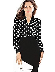 Messic Women's Polka Dots Print Dress