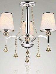 Crystal Chandelier  Living Room Light  Cloth art Chandelier Lighting 3 Lights