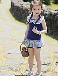 Girl's Cotton Clothing Set , Summer Short Sleeve
