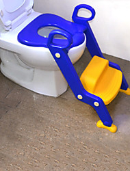Childrens Toilet Potty Training Chair Step Up Ladder Seat,Traditional Plastic Blue