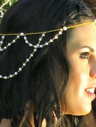 mode shixin® bandeaux pompon à la main de perles (1 pc)