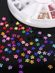 600pcs colorato quinconce gemme acriliche flatback mestiere Handmade DIY accessori materiale / abbigliamento