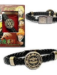 Hitman Reborn Punk Style  PU Leather Bracelet Cosplay Accessory