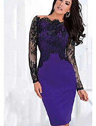 Arden Women's Lace Sleeve Bodycon Dress