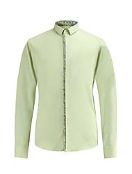 зеленый Soild с учетом нужным рубашка 100% хлопок