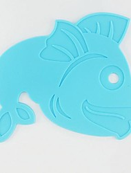 Cartoon Fish Shape Silicone Pot Mat, Cooking Place Coaster, Random Color