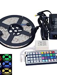 jiawen® wasserdichte 5m 300x5050 SMD RGB LED-Streifen flexibel light + rgb 44 Tasten-Fernbedienung + Netzadapter (AC110-240V)
