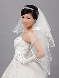 Wedding Veil Four-tier Veils for Short Hair 31.5 in (80cm) Tulle Ivory Ivory