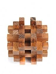 desbloquear brinquedo quebra-cabeça de madeira marrom
