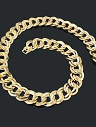 Figaro 60 centímetros homens cadeia dourado chapeado colares cadeia (largura 21,5 milímetros)