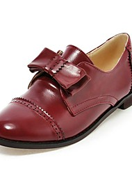 Women's Shoes Round Toe Chunky Heel Loafers with Bowknot Shoes More Colors available
