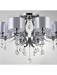 Modern  K9 Crystal Chandelier  E27 8 Lights