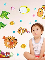 sticker baño calcomanías pegatinas de pared, peces precioso baño pvc etiqueta