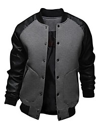 Men's Long Sleeve Jacket , Cotton/Polyester Casual/Sport