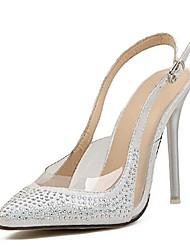 Scarpe Donna - Sandali - Formale - Tacchi / A punta - A stiletto - Finta pelle - Argento / Dorato