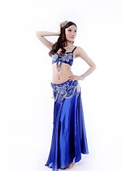 Belly Dance Stage Performance Beads Classic Outfits-Set of 3 Including Top, Belt and Skirt (More Colors)