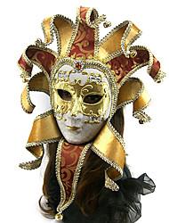 facciale stile veneziano maschera di tessuto jacquard di carnevale