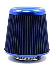 """affusolata rotonda / 3 filtri aria tirol alluminio universale aspirazione aria auto """"lavabile blu"""