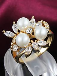 plaqué or d'Elva femmes bague en diamant