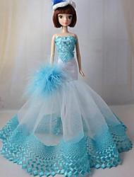 barbie festa à noite boneca vestido azul marinho bordado