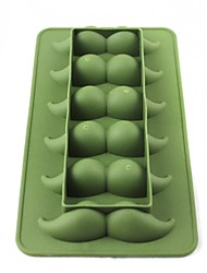 moustache silicone de style 6-réseau glace moule - vert armée