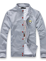 Men's Long Sleeve Jacket , Cotton Casual Pure