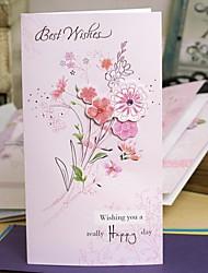 fleurs rose vif universelle carte de remerciement