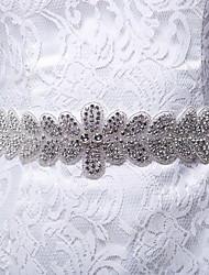Satin/Satin/ Tulle Wedding/Party/ Evening/Daily Wear Sash - Rhinestone Women's Sashes