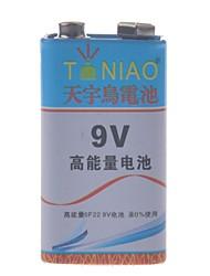 tianniao 9v zinco -manganês bateria de carbono (1pcs)
